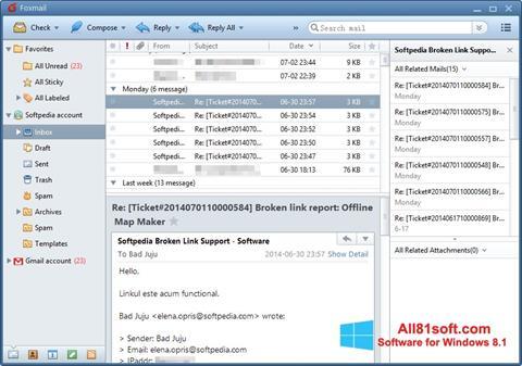 સ્ક્રીનશૉટ FoxMail Windows 8.1