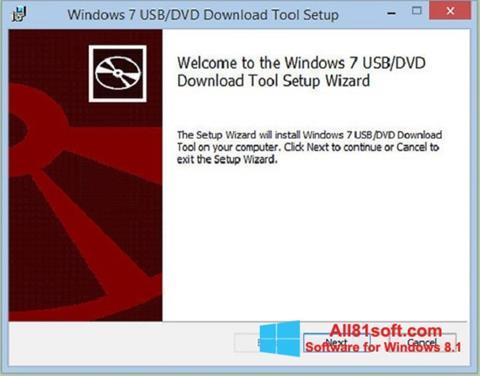 સ્ક્રીનશૉટ Windows 7 USB DVD Download Tool Windows 8.1