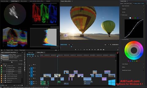 સ્ક્રીનશૉટ Adobe Premiere Pro Windows 8.1