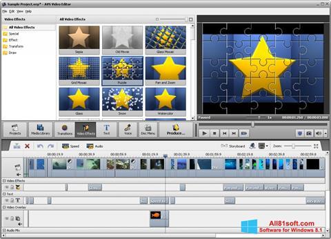 સ્ક્રીનશૉટ AVS Video Editor Windows 8.1