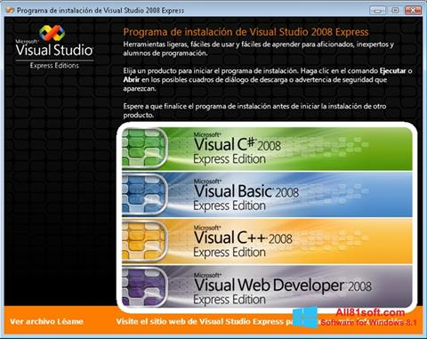 સ્ક્રીનશૉટ Microsoft Visual Studio Windows 8.1