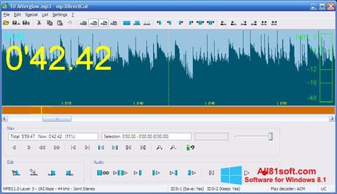 સ્ક્રીનશૉટ mp3DirectCut Windows 8.1