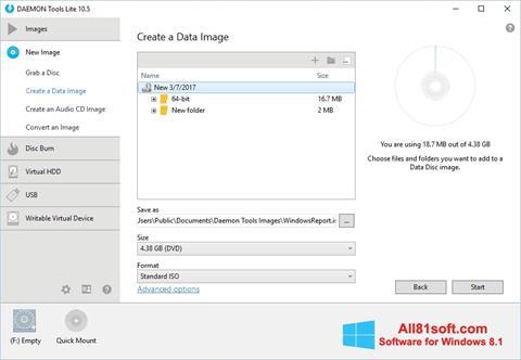 સ્ક્રીનશૉટ DAEMON Tools Lite Windows 8.1