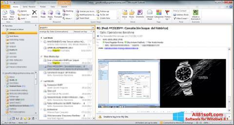 સ્ક્રીનશૉટ Microsoft Outlook Windows 8.1