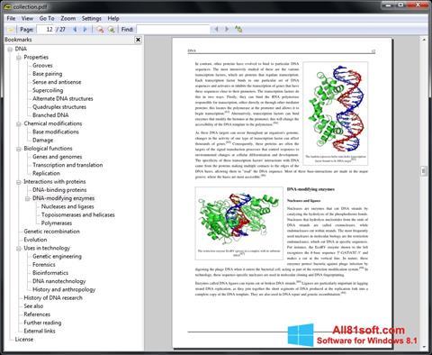 સ્ક્રીનશૉટ Sumatra PDF Windows 8.1