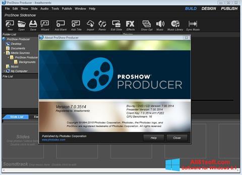 સ્ક્રીનશૉટ ProShow Producer Windows 8.1
