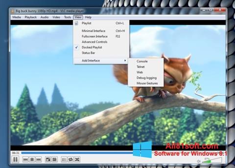 સ્ક્રીનશૉટ VLC Media Player Windows 8.1