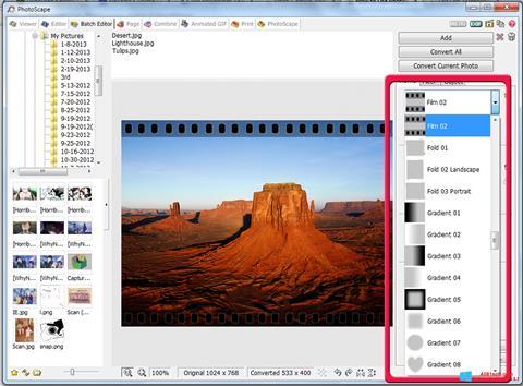 સ્ક્રીનશૉટ PhotoScape Windows 8.1