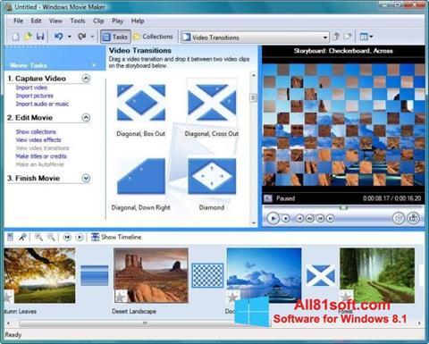 સ્ક્રીનશૉટ Windows Movie Maker Windows 8.1