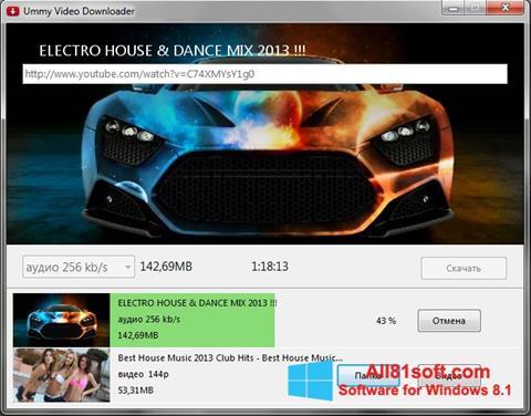 સ્ક્રીનશૉટ Ummy Video Downloader Windows 8.1