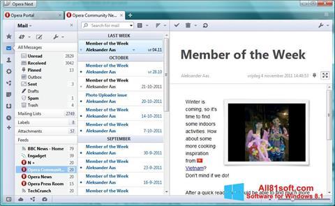 સ્ક્રીનશૉટ Opera Mail Windows 8.1