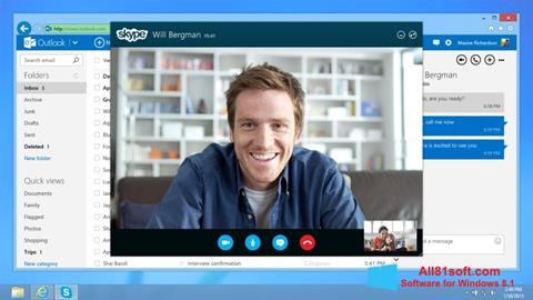 સ્ક્રીનશૉટ Skype Windows 8.1